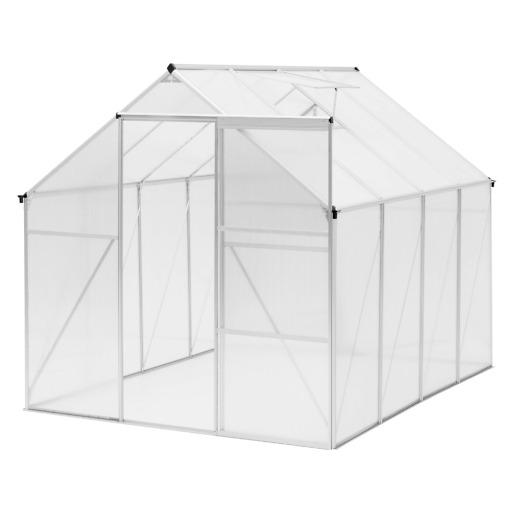 Kasvihuone 4.8 m² + sokkeli Tarmo (Ennakkotilaus)