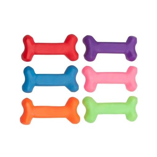 Luun muotoinen vinkulelu koiralle, 6 eri väriä