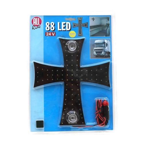LED-sisävalo 24 V iso risti All Ride