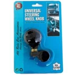 Ohjauspyörän nuppi on helppo kiinnittää mihin tahansa rattiin. Nupin halkaisija 5 cm.