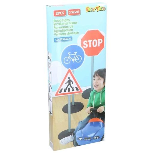 Liikennemerkit 3kpl lapsille Eddy Toys