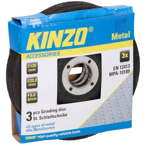 Hiomalaikka 125mm x 6mm 3 kpl Kinzo