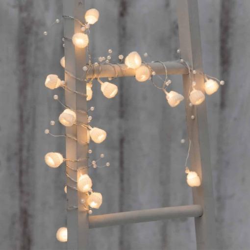 Villapipot 20 LED valkoinen Finnlumor