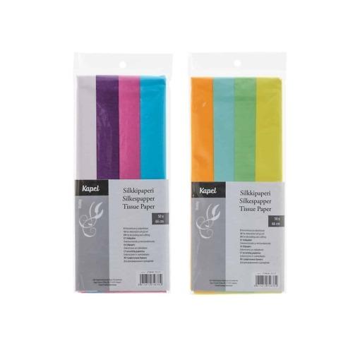 Silkkipaperimix 50x66cm 4 eri väriä/pkt