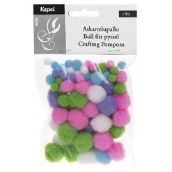 Askartelupallo lajitelma pastellivärit 78 kpl/pkt