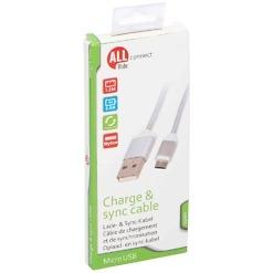 Punottu Micro USB-kaapeli 1.2 m All Ride