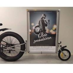 mainos polkupyörän perään