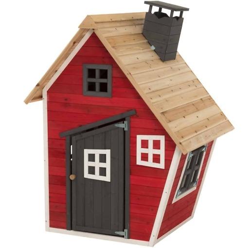 Tarmo mini, puinen pieni leikkimökki 102 x 120 x 155 cm pienemmille lapsille.