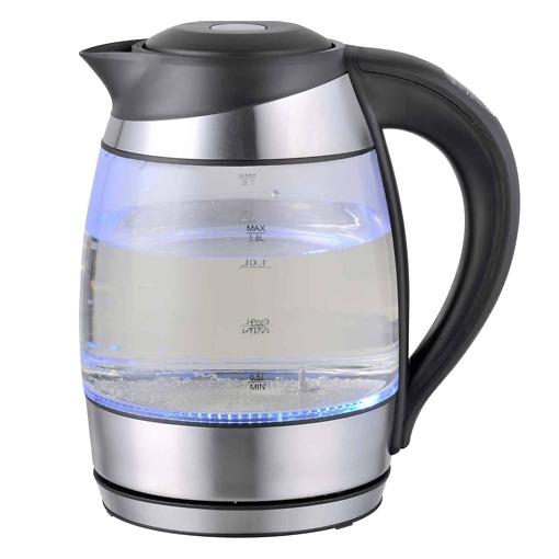 Lasinen vedenkeitin 1.8 litraa