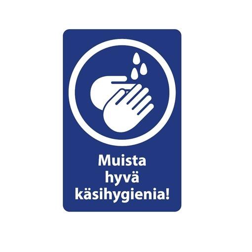 Opaste Muista hyvä käsihygienia 14x19 cm 2 kpl