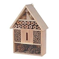 Hyönteishotelli 22x 30 cm tarjoaa tarpeellisia pesimä- ja talvehtimispaikkoja hyödyllisille hyönteisille ja pölyttäjille