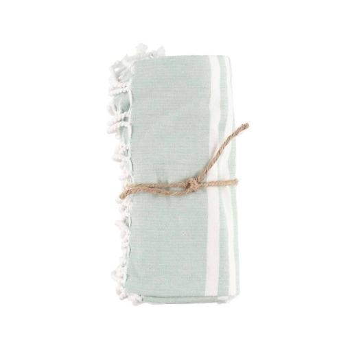 Hamam pyyhe Stripe vihreä 80x150 cm