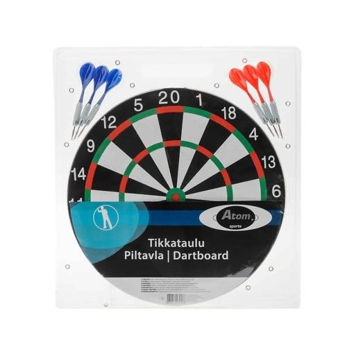 Tikka- /Dartstaulu+6 kpl tikat Atom Sports
