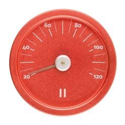 Saunan lämpömittari alumiini liekinpunainen Rento