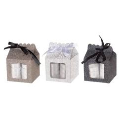 Lämpökynttilät glitter lahjapakkaus Polar