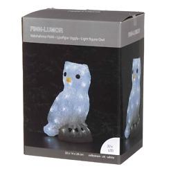 Pöllö LED-koristevalaisin akryyliä