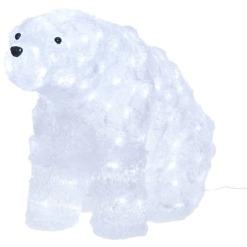Koristevalaisin LED Jääkarhu istuva