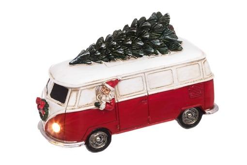 Joulupukki ja bussi Led-valaisin