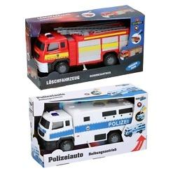 Leluauto poliisi/paloauto valolla ja äänellä Gearbox