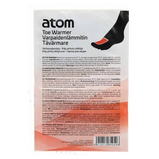 Varpaanlämmitin 2 kpl/pkt Atom