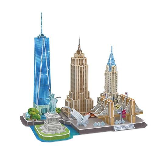 3D Palapeli New York siluetti