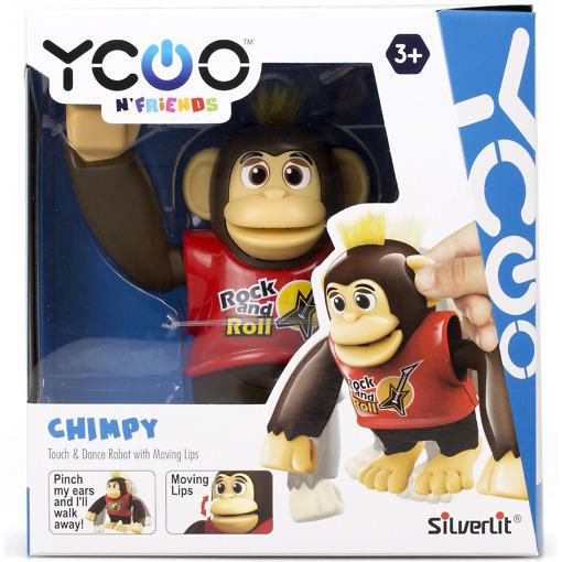 Robottisimpanssi Chimpy punainen