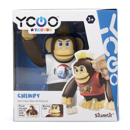 Robottisimpanssi Chimpy valkoinen