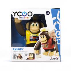 Robottisimpanssi Chimpy keltainen