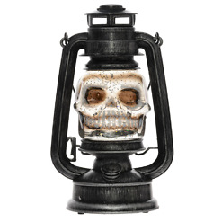 Halloween LED-pääkallolyhty