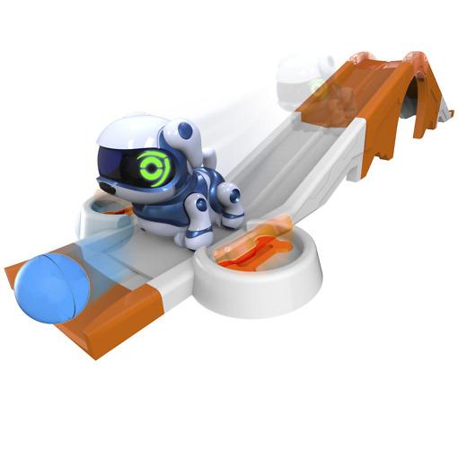 Robottieläin leikkisetti oranssirata