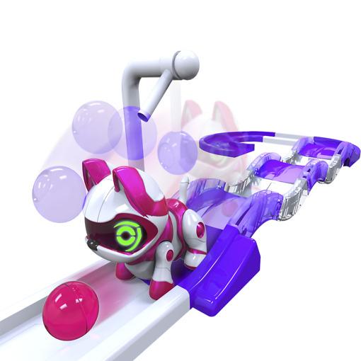 Robottieläin leikkisetti lilarata