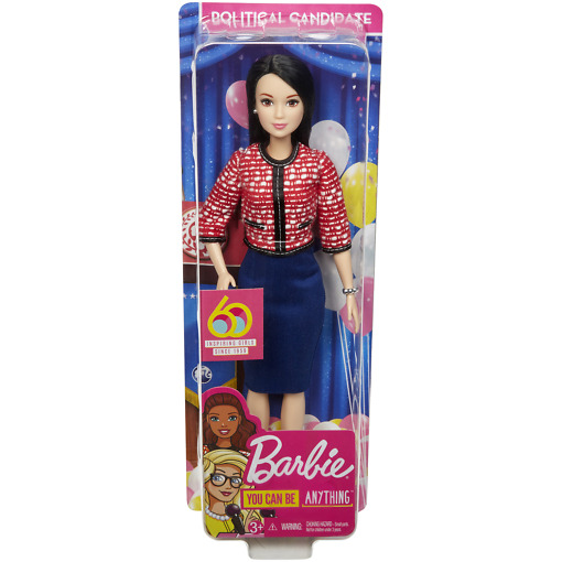 Poliitikko Barbie pakkaus