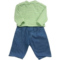 Nukenvaate 46-52cm paita/housut