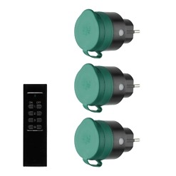 Kauko-ohjattavat pistorasiat ulkokäyttöön 3 kpl Tarmo