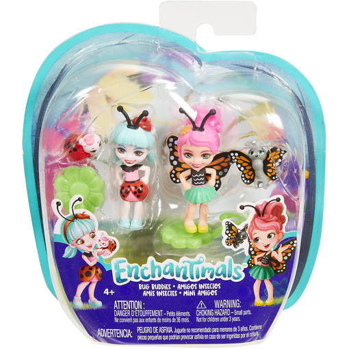 Mininukke Enchantimals leppäkerttu ja perhonen