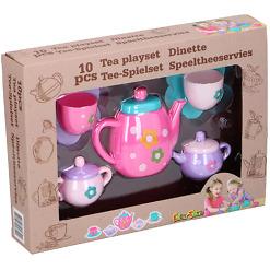 Lasten teesetti pinkki 10 osaa