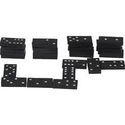 Dominopeli mustat palikat