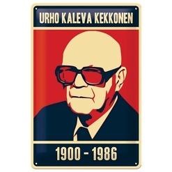Peltikyltti 20x30 cm Urho Kaleva Kekkonen