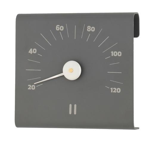 Saunan lämpömittari alumiini harmaa Rento