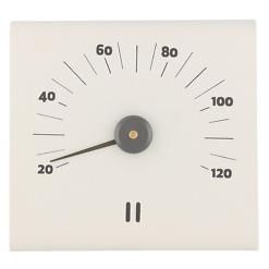 Saunan lämpömittari alumiini valkoinen Rento
