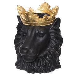 Ulkoruukku Leijona musta 39 cm 4Living