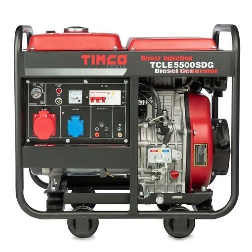 Aggregaatti 4200W / 400V + 230V + 12V Timco TCLE5500SDG