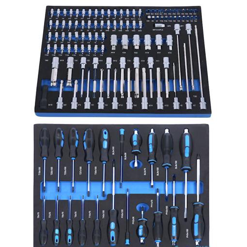 Työkaluvaunu autotyökaluilla 266 osaa Timco