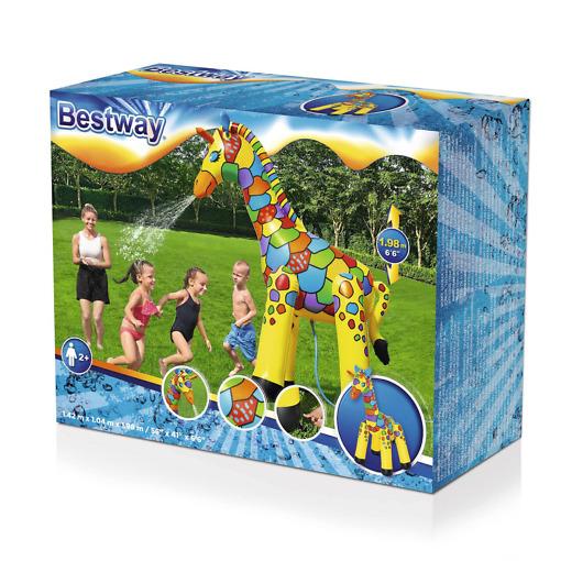 Sprinkleri Jättikirahvi 142x104x198 cm Bestway