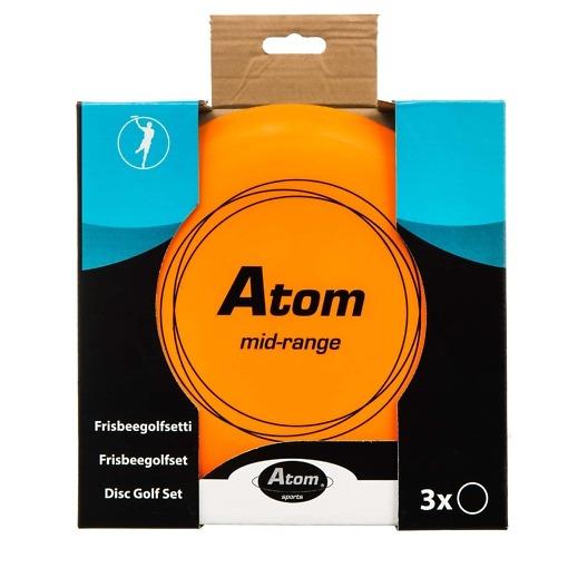 Frisbeegolf kiekko 3 kpl / pkt Atom