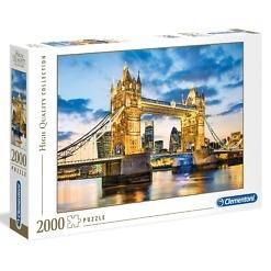 Palapeli 2000 palaa Tower Bridge Clementoni
