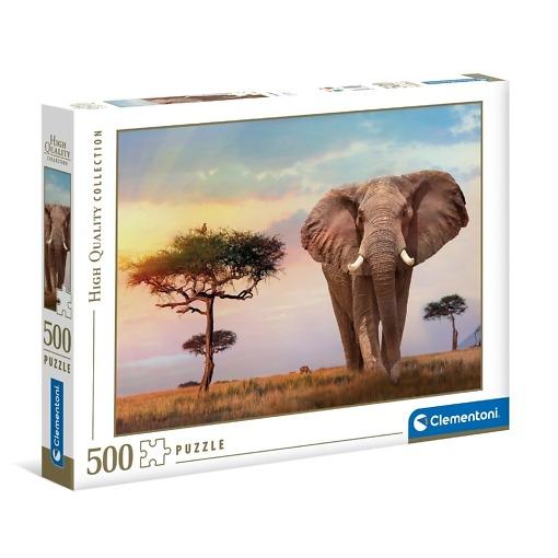 Palapeli 500 palaa Elefantti Clementoni
