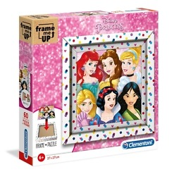 Taulupalapeli 60 palaa + kehys Disneyn prinsessat Clementoni