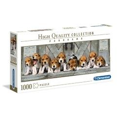 Panorama-palapeli 1000 palaa Beaglen pennut Clementoni