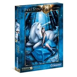 Palapeli 1000 palaa Anne Stokes Blue Moon Clementoni